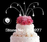 Free Shipping Hanging Cake Topper Jewelry - Hearts 24stems/lots