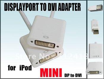 mini Displayport to DVI Adapter 15CM white (DP Male to DVI Female),Support DVI highest video resolution 1080p