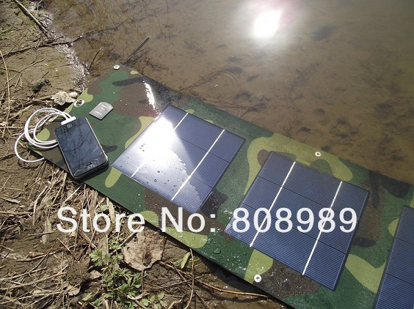Wholesale!10pcs/lot 10W Portable Solar Charger Foldable Solar Panel+USB Output Battery Charger Bag+Waterproof DHL FreeShipping(China (Mainland))