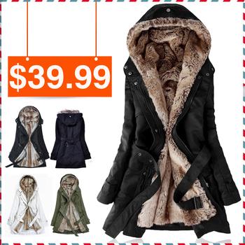 Женская зимняя куртка с меховой подкладкой из искусственного меха. Модель выполнена ...