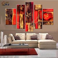 Free Shipping 5PC  Huge Modern Abstract Oil Painting On Canvas ,100% Real Handpainted Oil Painting  JYJZ025
