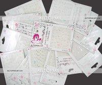 DHL Free shipping-A_Grade 400pcs/lot White 3d Nail Art stickers mix designs 3D Nail Stickers