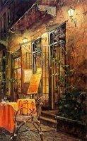 Landscape oil painting ,Venice Landscape, Hot,Contemporary Art (Hand painted canvas art )Venice-041