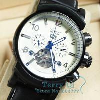 Fashion Men Tourbillon Auto Mens Mechanical Watch Wristwatch Xmas Gift Free Ship