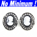 Bingly vintage Cameo drop chandelier Earrings with white rhinestones 2013 new for women branded jewellery jewelry ers-g20