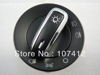 Free Shipping ,(HSVW006) OEM 3BD 941 531 Auto Headlight head light Switch CONTROL Chrome Trim Fit For VW MK4 B5 European