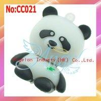 2014 Promotion New Stock Animal Plastic No Usb 2.0 Wholesale Panda Style Usb Flash Drive 1gb free Shipping #cc021
