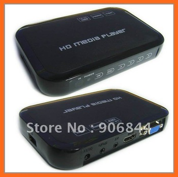 Free Shipping Cheapest USB Full HD 1080P HDD Media Player HDMI VGA MKV H.264 SD