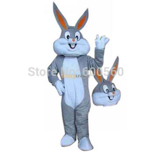 Fancytrader Grey Bugs Bunny Mascot Costume, Easter Day Bunny Mascot Costume, Bunny Mascot Costume Free Shipping FT20020(China (Mainland))