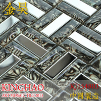 [KINGHAO] Wholesale Crystal Mosaic Glass Tile background wall K00108