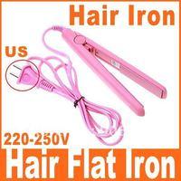 Mini Pink Electronic Hair Flat Iron Straightener Straightening, Free Shipping, Dropshipping