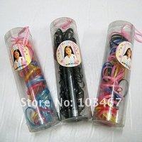 Fashion Children's hair accessories colorful Hair elastic band,12 barrels/lot