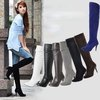 Large size boots size US 4-15 Free shipping New Black Sexy Suede Over Knee High Heel Boots Pointed Toe womne shoes7Colors MLE858