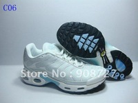 Free Shipping  2011 New TN Women's running shoes basketball shoes  Sport  Footwear Sneaker Shoes-Cement  Casual shoes White #C06