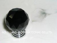 D20mm Free shipping black not transparent crystal glass  drawer knob & cabinet handle & drawer knob