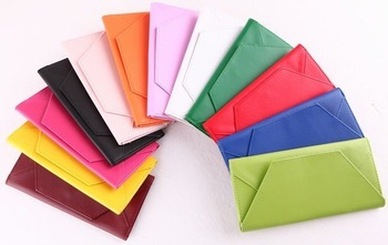 Cluth Wallets Casual  Solid Trendiest Lady's PU Wallet / Purse,Lady's Fashion Wallet,Card Bag,Many Colors