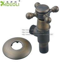 Xiduoli Free shipping 3pcs/lot European-style  archaize Brass Angle Valve  Brass Brushed elegant  luxury XDL-1202