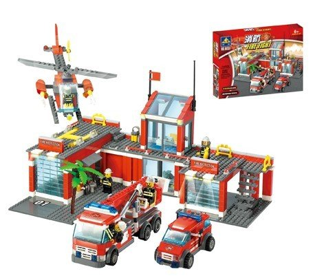 Enlighten Child 8051 DIY Educational Fire Theme Building Car 774PCS Block Brick Toys(China (Mainland))