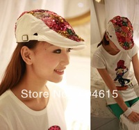 Women's fashionable Colorful Sequins beret caps