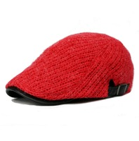 wholesale visor hat women and men winter popular leisure adjustable wool knitted beret caps