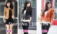 Free shipping, female coat, coat, ladies suit small,Loose coat(lu080)