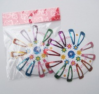 Free Shipping-6 colors 144pcs/lot Fashion Kids Hair Clip Good Package