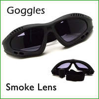 Outdoor Motorcycle Goggles Windproof Glasses Safety Sport Glass Smoke Lens Free shipping