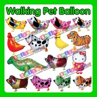 Hot!!! Free Shipping Factory Outlets 100pieces/lot Mix styles wholesale Various Walking pet balloons(All Styles is available)