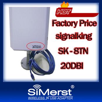 Signalking 8TN High Power Wireless Wifi Usb Wifi Adapter Latest 2013 Model 2000mW + 20dbi Omni Antenna !! Highest Range in Mark