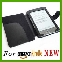 High quality Orignal Black Leather Ebook Case cover for amazon kindle 5 4 3th E-book Case Holder