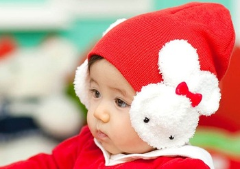 20PCS/LOT free shipping Baby hat Rabbit Baby Hat, Fashion Star Candy Colored Wool Cap, Baby Winter Hat, Wholesale