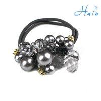 Free Shipping 12pcs/lot Fashion Rhinestone Ponytail Holder Hair Bows HP0022