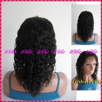 Beautiful Deep curl  pure human hair  full lace wig free shipping