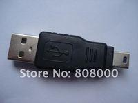 50pcs USB A Male to Mini 5 Pin Male Converter Adapter