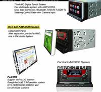 "7"" 2 Din HD in dash Android 2.3 OS CAR PC/Car Pad(DM7033) with 3G/WIFI/DV Camera/ATV/DVB-T(optional)/ASTC(opitoanl)/DVD/GPS"
