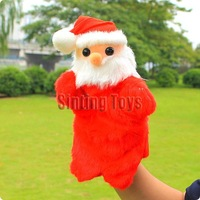 Christmas gifts stuffed toys santa claus puppet christmas essential Interactive props New arrival