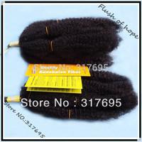 "Free Shipping Afro Kinky Bulk Synthetic Hair Extensions Afro Hair Bulk Curly Hair Braid 18""  #1 1B  2pcs/pack 6Packs/lot"