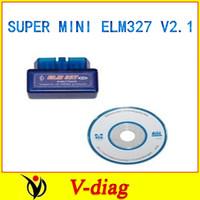 shipping free Super mini obdii Diagnostic Tool Bluetooth ELM 327 smart elm327 v1.5