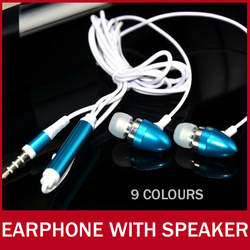 Earphone With Microphone Speaker For iPhone Smartphone MP3 iPod 3.5mm Metal Super Bass In-ear Earbud Earphones Headphone MIC(China (Mainland))