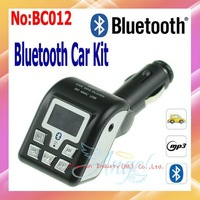 2013 Rushed Free Shipping Wholesale Bluetooth Car MP3 Player Wireless FM Transmitter Modulator with SD/USB MMC Black  BC012