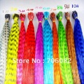 18&#39;&#39; mixed 10 colors synthetic rooster grizzly feather hair extension/  100pcs/lot