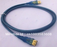 transparent blue 1.8M gold-plated USB Extension Cable