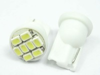 Free Shipping car led light + Wholesale + 10pcs/lot + T10 168 194 8 SMD White Wedge Bulbs Turn Signal