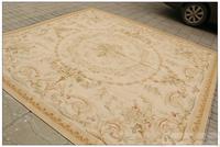 2x3m  Hand Woven Aubusson Area Rug Antique French Pastel Floor Carpet Decorative