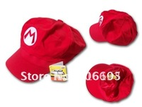 free shipping 15pcs/lot Super Mario Bros Anime Cosplay Hat,super mario hat, baseball cap,