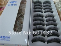 wholesale price 100 boxes Mixed Style Black false eyelashes 017#