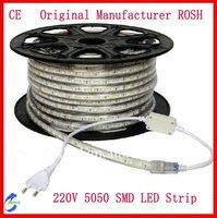 25m/Lot  AC220V 60LED/M Waterproof 5050 SMD LED Strip
