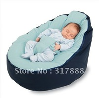 FREE SHIPPING Solid blue baby beanbag, baby beanbag seat, indoor and outdoor beanbag for your kids