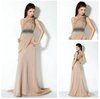 One Shoulder Black Beads Best Selling Long Formal Evening Dress Gown 2012