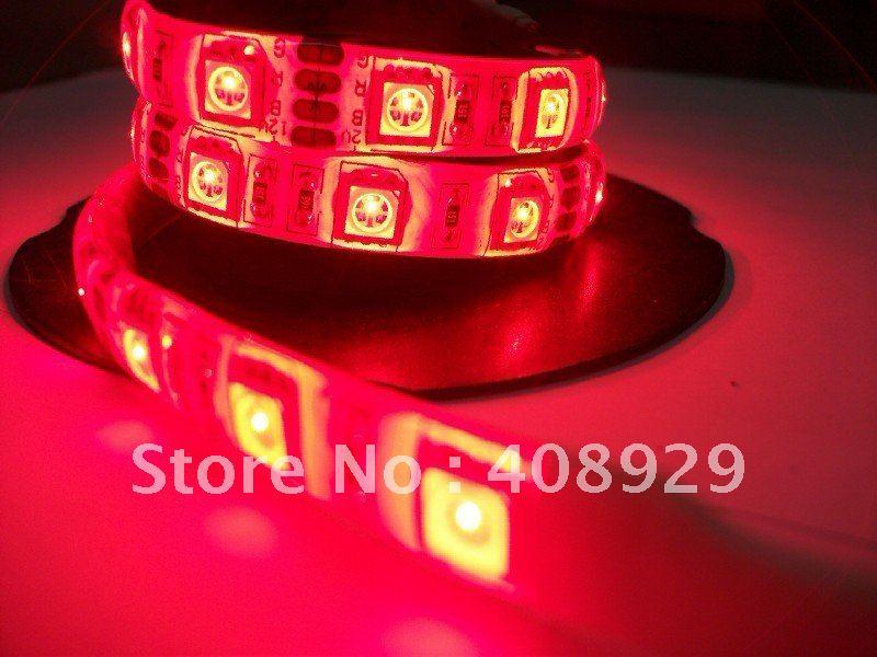 LED flexible strip , 5050 soft light strip, LED light bar, SMD5050 ,300PCS, 5M,red,IP65, LED decorative lights with(China (Mainland))